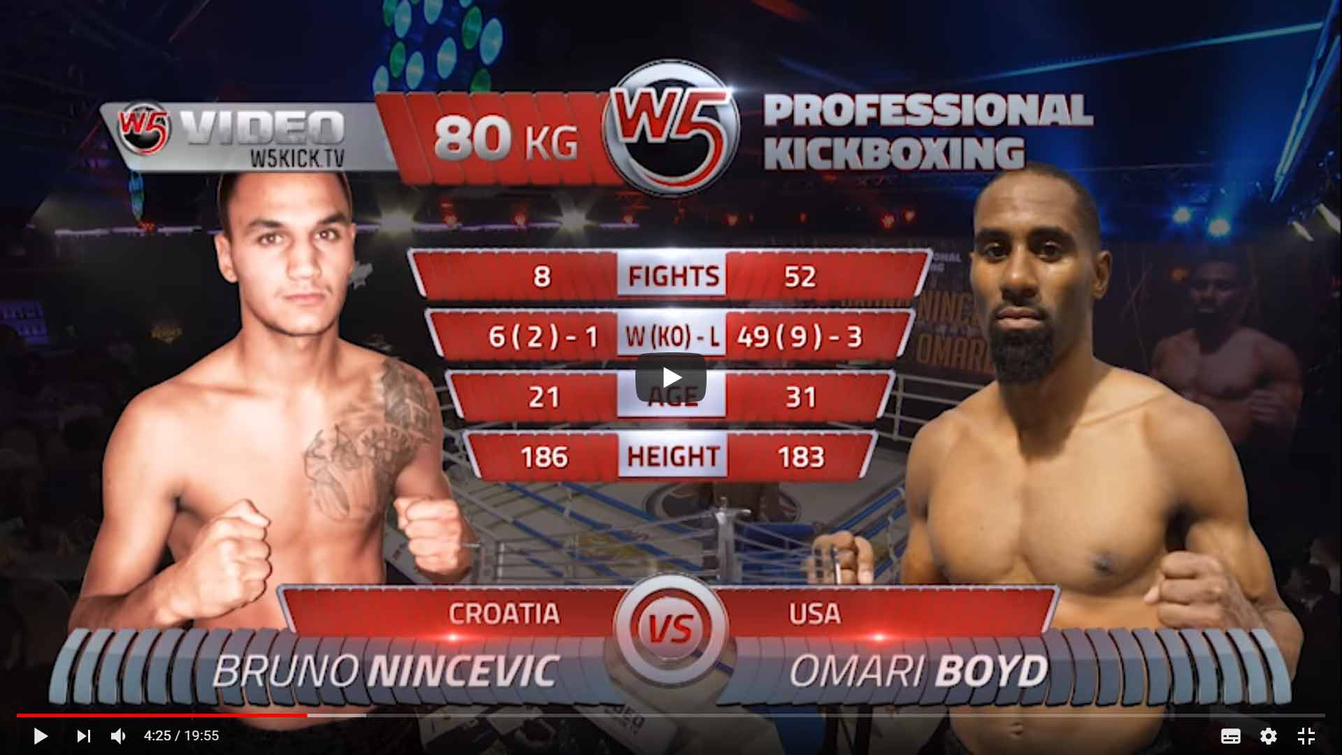 "Кикбоксинг. Bruno Nincevic vs Omari Boyd - W5 ""European League"""